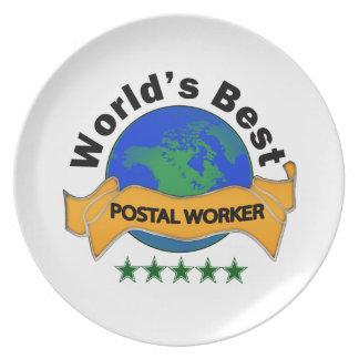 World's Best Postal Worker Dinner Plate