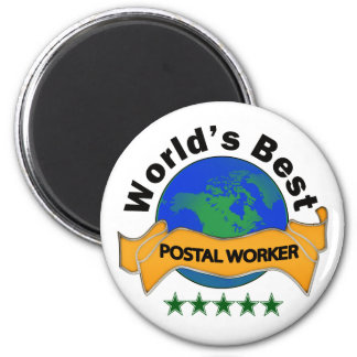 World's Best Postal Worker 2 Inch Round Magnet
