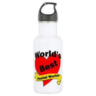 World's Best Postal Worker Stainless Steel Water Bottle