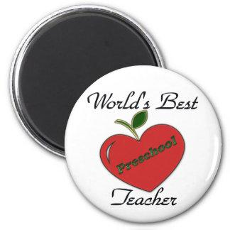 World's Best Preschool Teacher 2 Inch Round Magnet