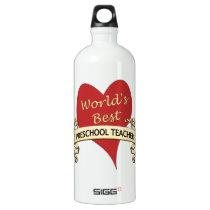 World's Best Preschool Teacher Aluminum Water Bottle