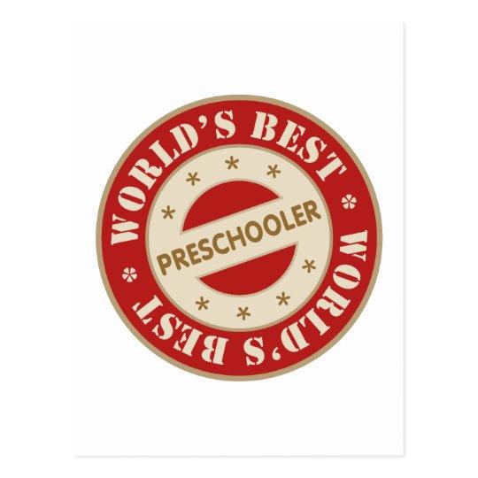 Worlds Best Preschooler Postcard