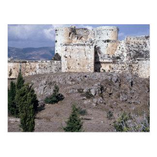 World's best preserved crusader castle, Krak des C Postcard