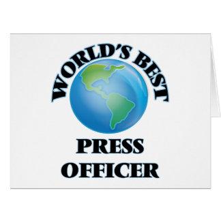 World's Best Press Officer Cards