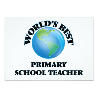 World's Best Primary School Teacher Card