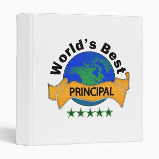 World's Best Principal 3 Ring Binder