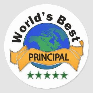 World's Best Principal Classic Round Sticker