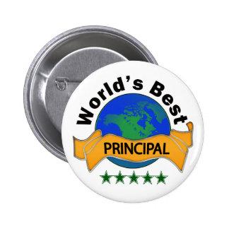 World's Best Principal Pinback Button