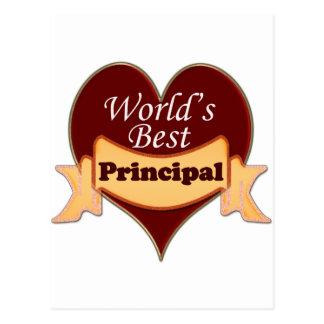 World's Best Principal Postcard