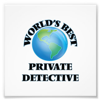 World's Best Private Detective Photo Art