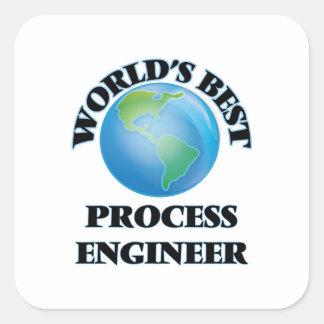 World's Best Process Engineer Square Sticker