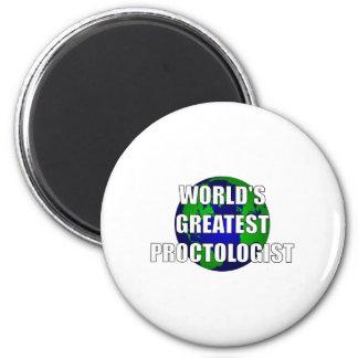 World's Best Proctologist 2 Inch Round Magnet