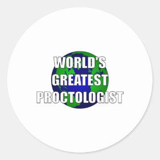World's Best Proctologist Classic Round Sticker