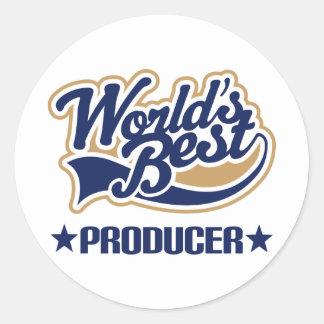 Worlds Best Producer Classic Round Sticker