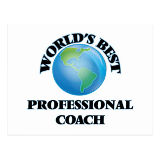World's Best Professional Coach Postcard