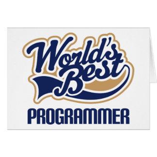 Worlds Best Programmer Card