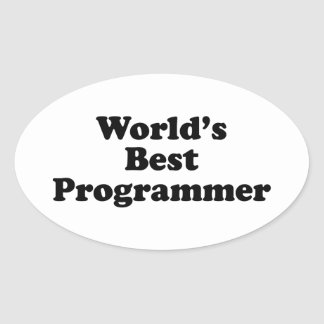 World's Best Programmer Oval Sticker