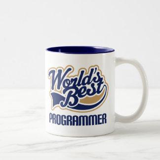 Worlds Best Programmer Two-Tone Coffee Mug