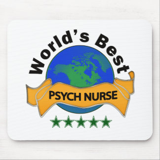 World's Best Psych Nurse Mouse Pad