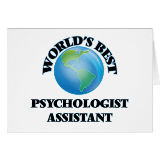 World's Best Psychologist Assistant Greeting Card