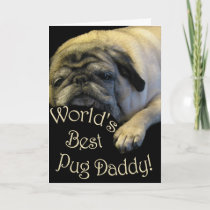 World's Best Pug Daddy Holiday Card