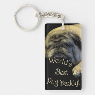 World's Best Pug Daddy Keychain