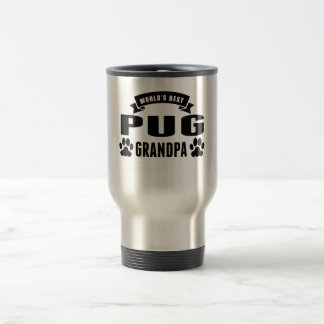 World's Best Pug Grandpa 15 Oz Stainless Steel Travel Mug