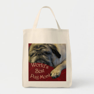 World's Best Pug Mom Canvas Bag