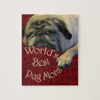 World's Best Pug Mom Puzzle
