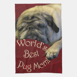 World's Best Pug Mom Towels