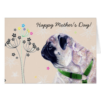 World's Best Pug Mommy! Mother's Day Card