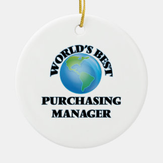 World's Best Purchasing Manager Ceramic Ornament