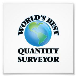 World's Best Quantity Surveyor Photographic Print