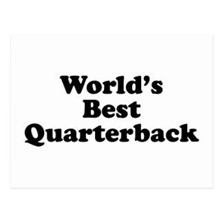 World's Best Quarterback Postcard