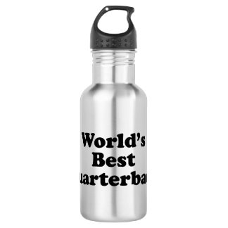 World's Best Quarterback Stainless Steel Water Bottle