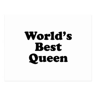 World's Best Queen Postcard