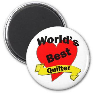 World's Best quilter 2 Inch Round Magnet