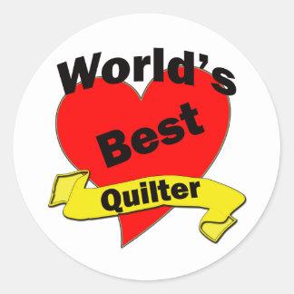 World's Best quilter Classic Round Sticker