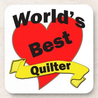 World's Best Quilter Drink Coaster