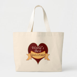 World's Best Quilter Large Tote Bag