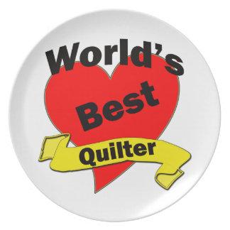 World's Best Quilter Melamine Plate