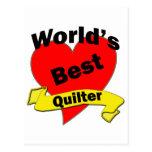 World's Best quilter Postcard