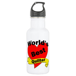 World's Best Quilter Stainless Steel Water Bottle