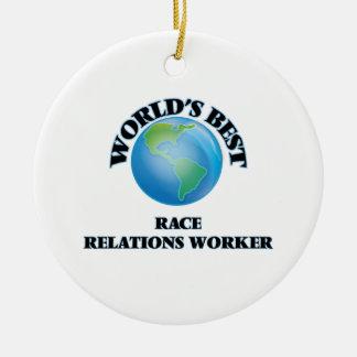 World's Best Race Relations Worker Ornament