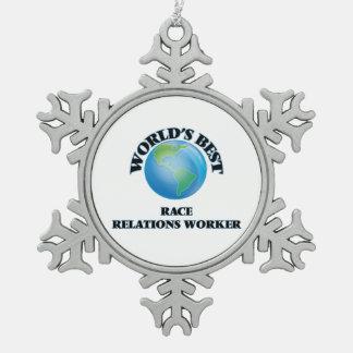 World's Best Race Relations Worker Ornaments