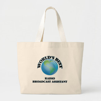 World's Best Radio Broadcast Assistant Tote Bags