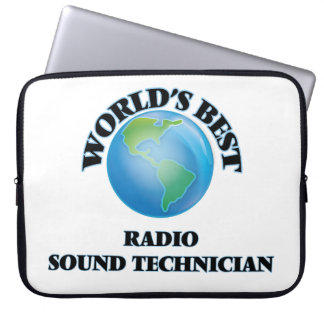 World's Best Radio Sound Technician Laptop Sleeve