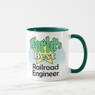 World's best Railroad Engineer Mug