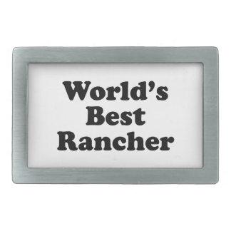 World's Best Rancher Belt Buckle
