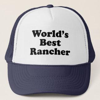 World's Best Rancher Trucker Hat